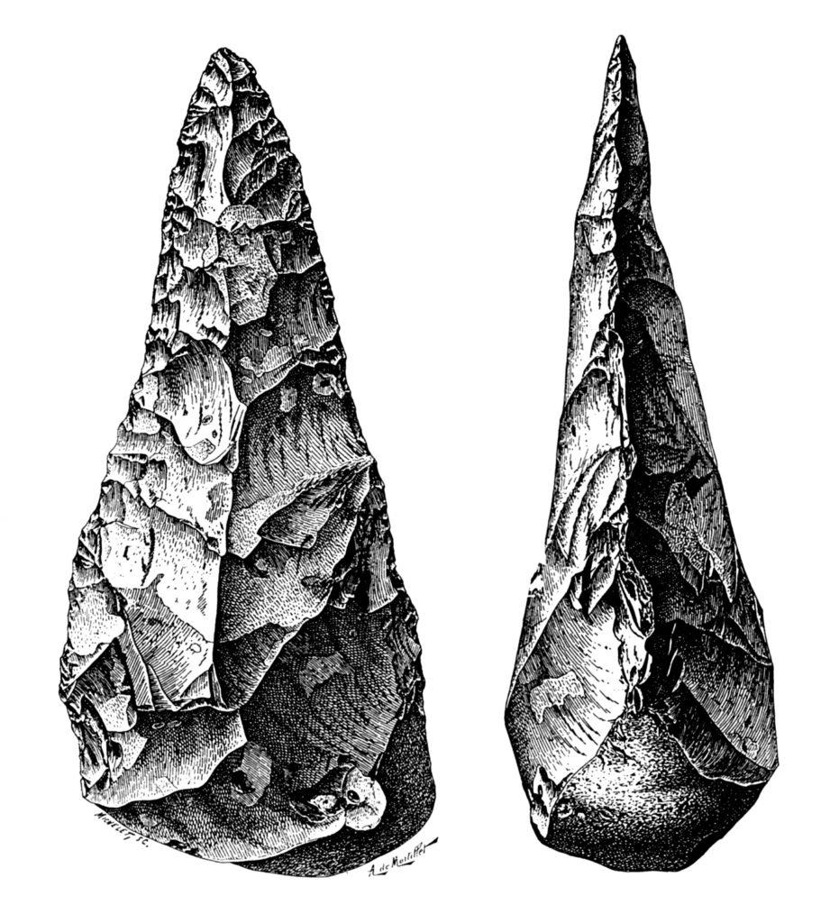 Outils bifaces en pierre taillée