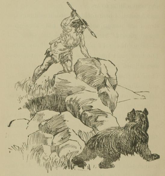 Homme préhistorique à la chasse